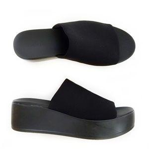 79194b2fed2 bebe Shoes - Bebe Stretchy Womens Platform Wedge Slide Sandal